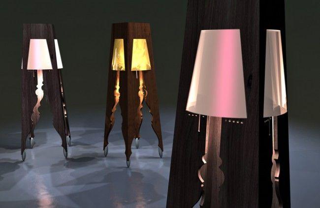 liviu stehlampe design ausgeschnitten schirm