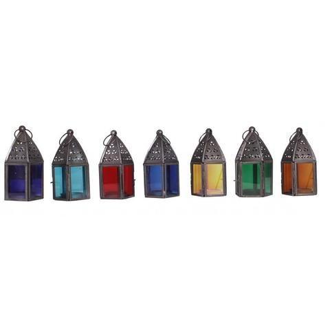 Set of 7 Chakra Metal Lanterns - The Hippie House