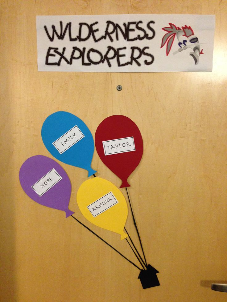 """Creative suite style Disney themed door decs. From the movie """"Up"""". (decor dec name tag ra dorm reslife) By RA Austin Grant (2/7)"""