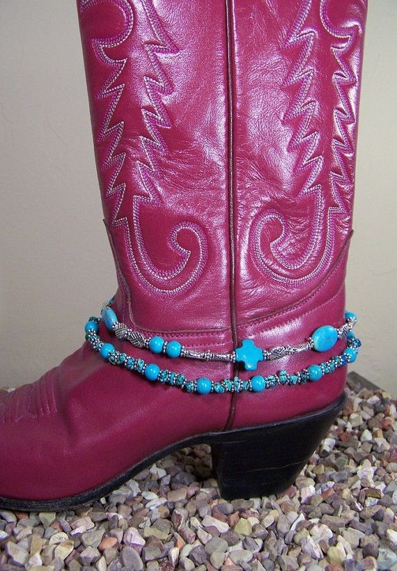 Turquoise Boot Bling Adds Color and Style by www.SpottedTigerJewelry.etsy.com, $19.95
