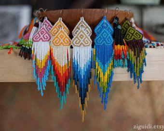 Nativo americano con cuentas pendientes por ZIGUIDI en Etsy