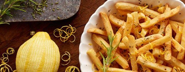 Frites au Citron et au Romarin