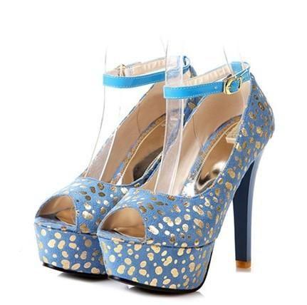 FashionFish Head Sandals Soft Thin Heels Shoes