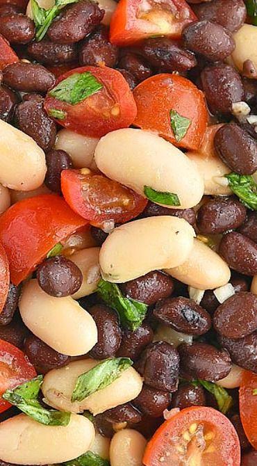 White and Black Bean Salad