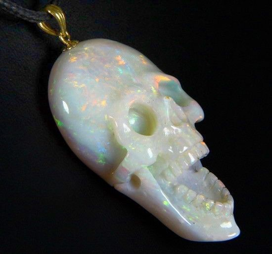 Gemstone opal carved crystal skull pendant with 18k solid gold 768 gemstone opal carved crystal skull pendant with 18k solid gold 768 jewels diamonds kick ass jewelry pinterest crystal skull solid gold and opals aloadofball Choice Image