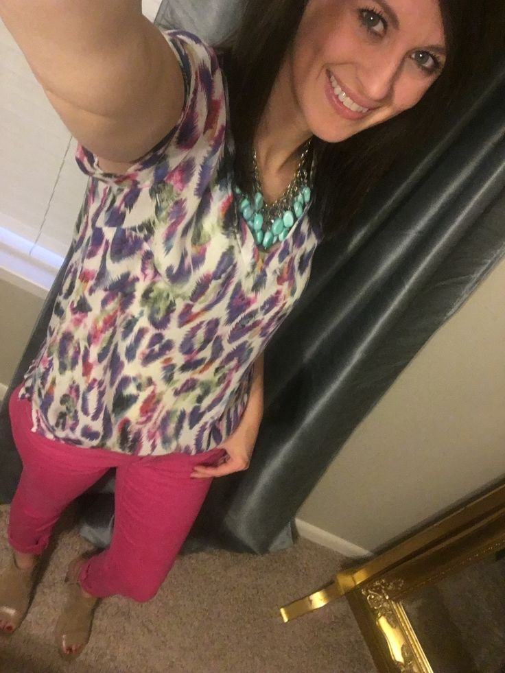 Cabi Plume top and Bardot jeans