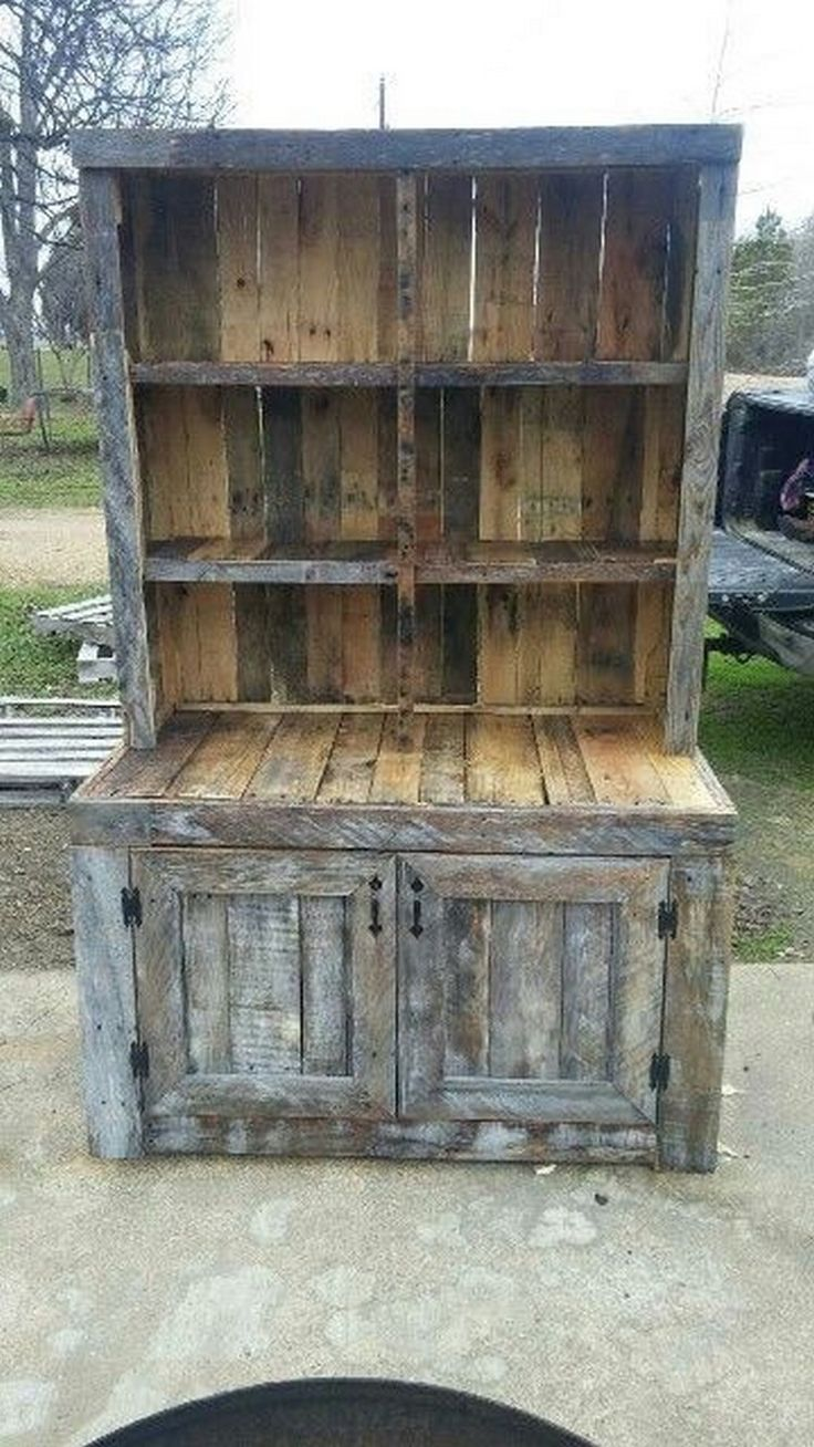 Cupboards Made From Pallets Top 25 Best Pallet Cabinet Ideas On Pinterest Pallet Kitchen