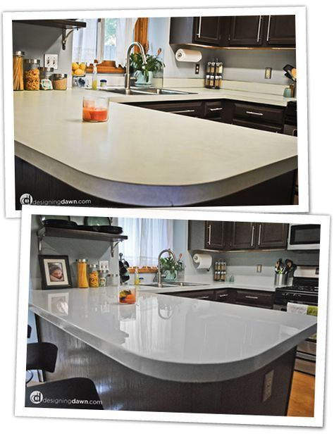 cheap way to change ugly countertops paint them i found this girlu0027s blog online