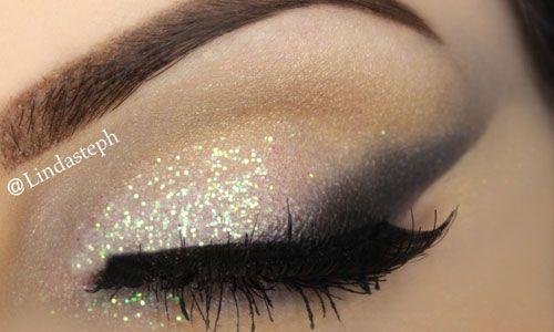 Deze glitter look is perfect voor een feestje of bruiloft. Met deze makkelijke stappen boots je de look van make up artist Lindasteph zo na