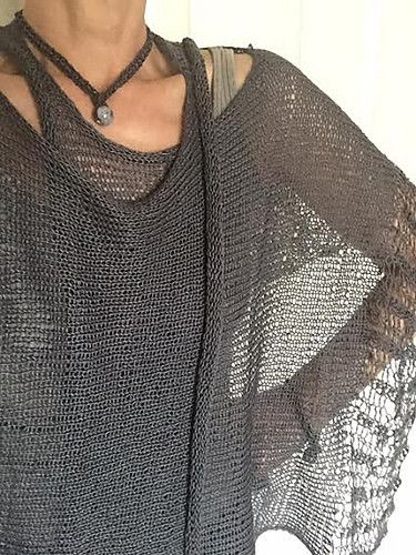 E L L O A wonderfully feminine vest featuring a lot of simple, yet intriguing details. There is a bit of lace, beautiful beads, an I cord edging and the sheer volume of this vest is just delicious! We