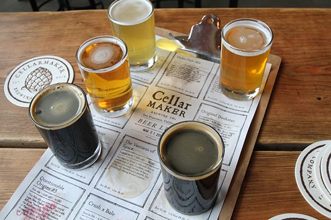 Cellar Maker beer menu by Gamut: When you order a flight, your beers are placed on the grid they belong in so you know exactly what you're drinking.