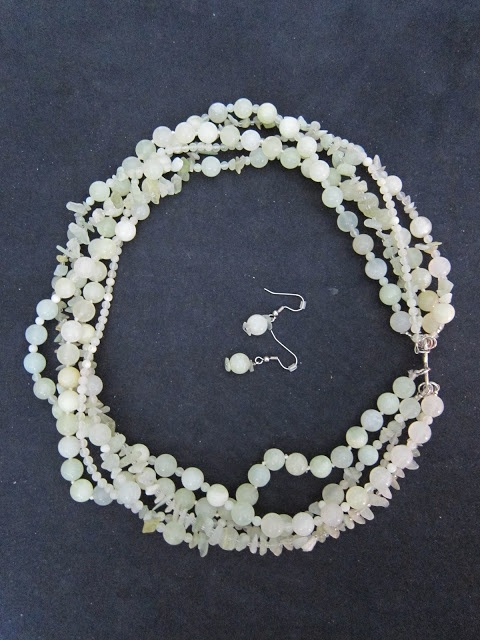 Light Green Jade - Mix and Match necklace and earrings