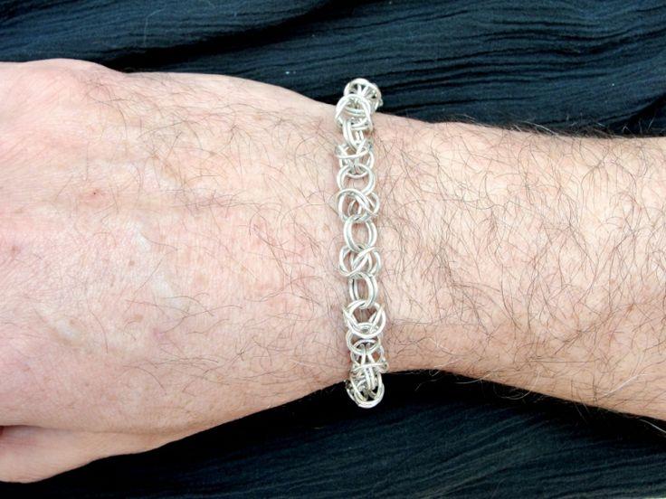 "Designer-jewelry. Bijuterie de autor - Bratara barbateasca ""Byzantine Braiding"""
