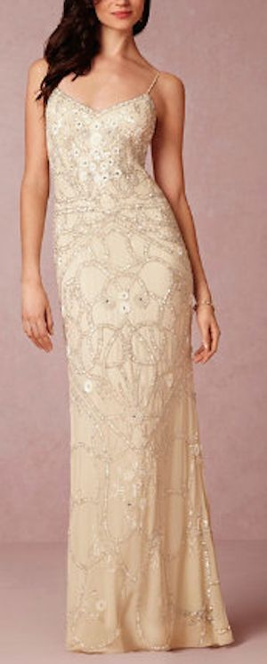 Stunning Beaded Vintage Wedding Gown