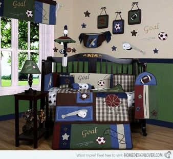 http://www.bawtie.com/4-best-baby-boy-room-themes/ 4 Best Baby Boy Room Themes : Classic Sport Baby Boy Room Themes