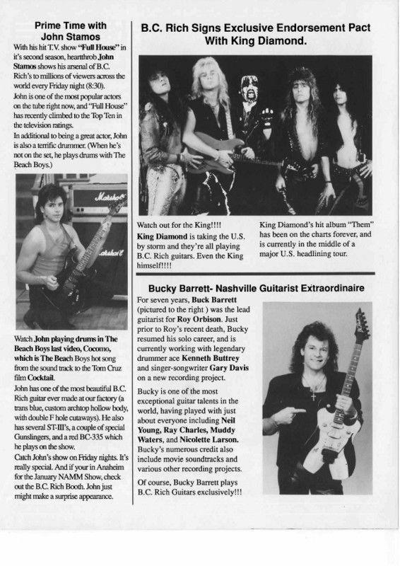 BC Rich Times 1989
