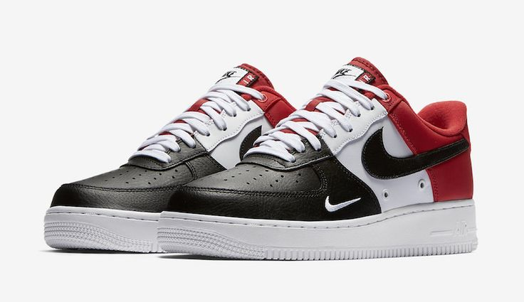 "http://SneakersCartel.com Air Jordan 1 Inspired Nike Air Force 1 Low ""Black Toe"" #sneakers #shoes #kicks #jordan #lebron #nba #nike #adidas #reebok #airjordan #sneakerhead #fashion #sneakerscartel"