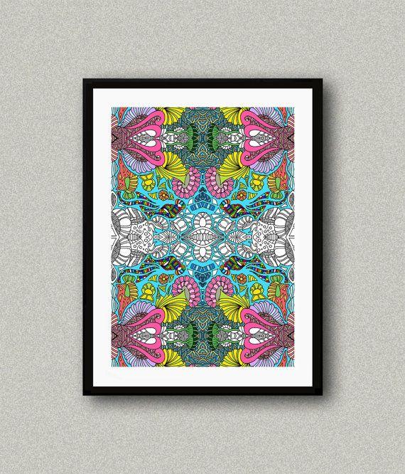 C006 Abstract art print Art poster Modern art by WhitePaperArt