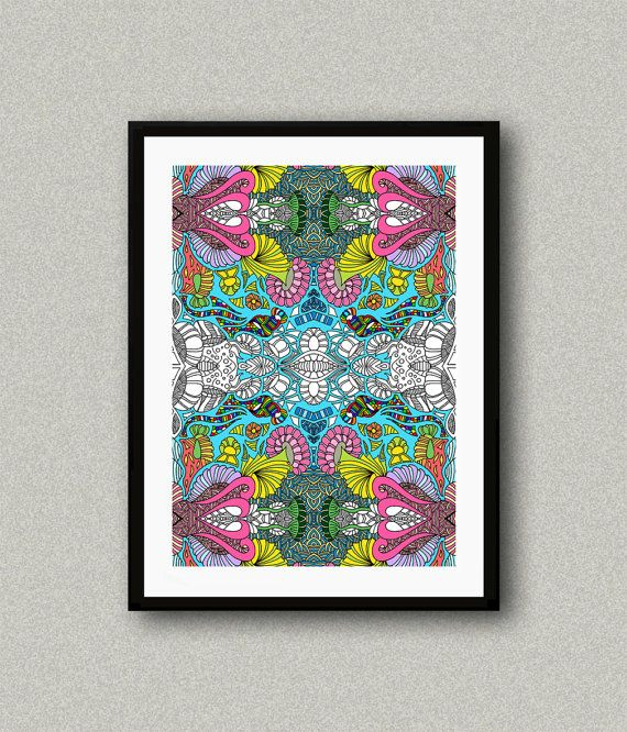 C006 Abstract art print Art poster Modern art by WhitePaperArt