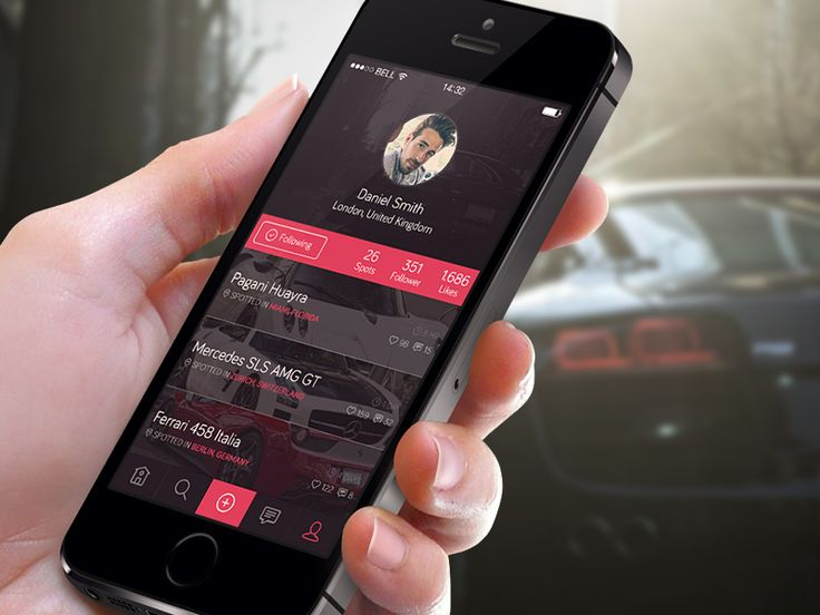 The Car Spotters App Design by Thomas Sturm