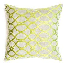 Geometric Curves Chartreuse Cushion Boyd Blue