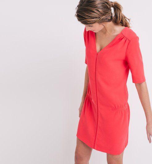 Robe unie Femme cerise - Promod