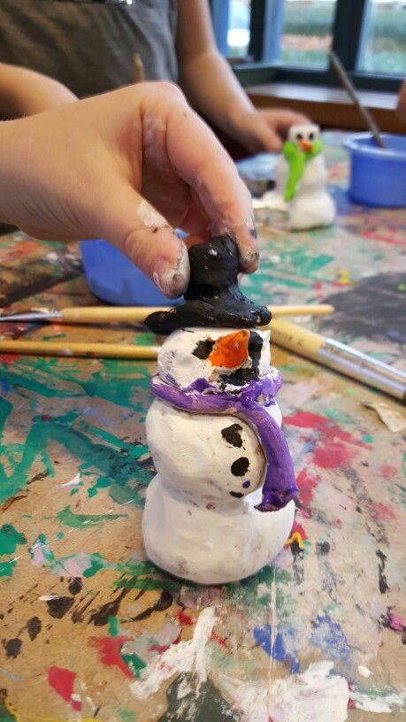 Sneeuwpoppen kleien