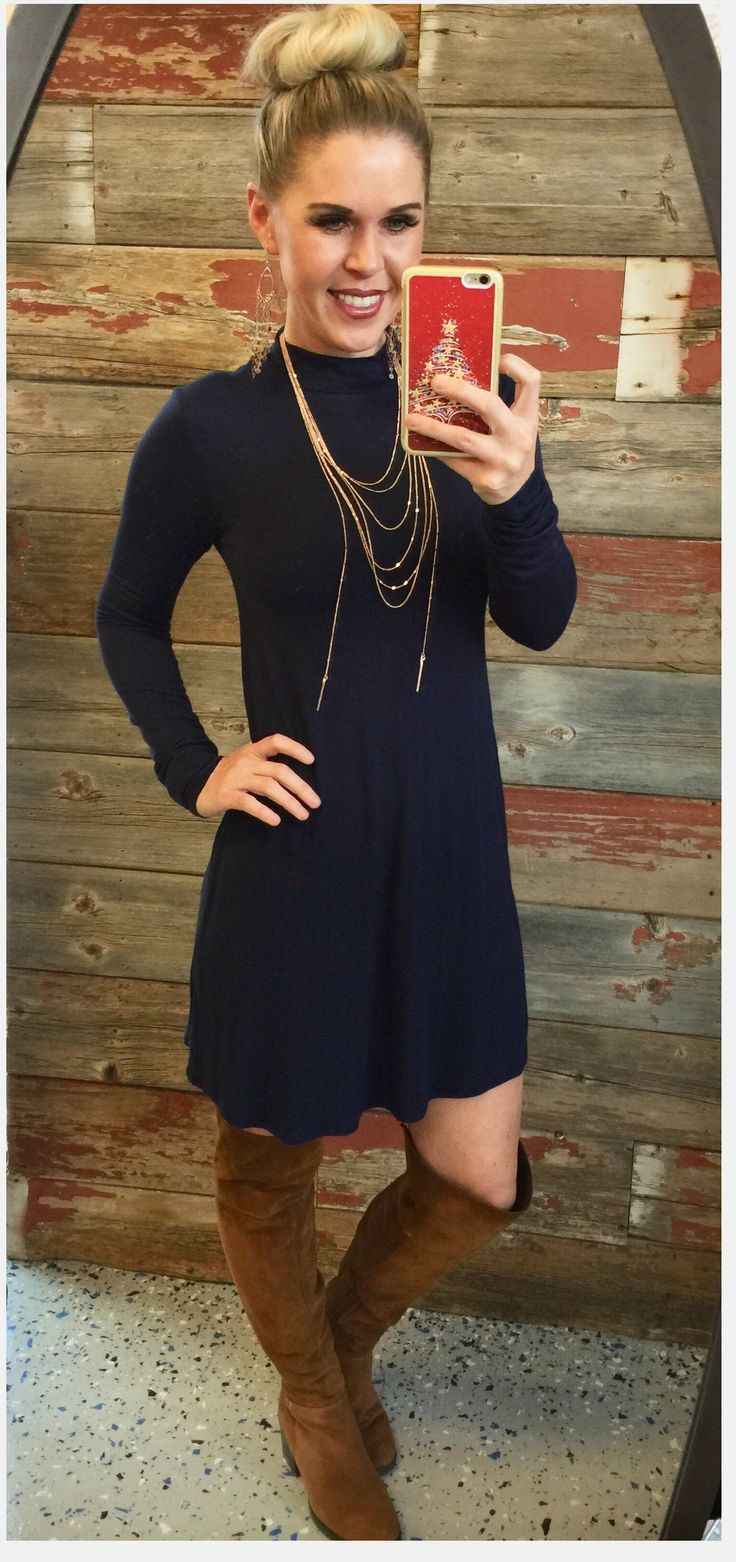 More than You Know Dress: Navy from privityboutique