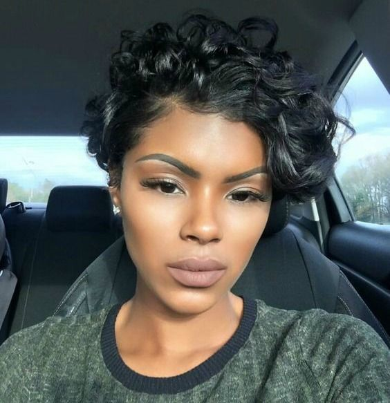 Curls on short relaxed hair | Short relaxed hairstyles ...