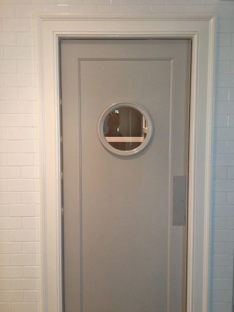 Necessary Reverse swinging exterior door