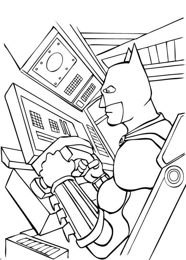batman begins coloring pages - photo#20