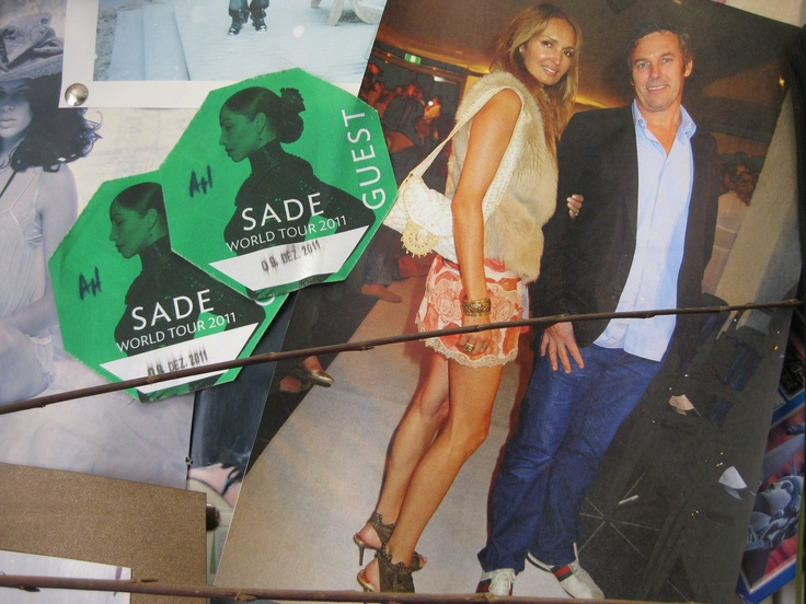 More from my studio inspiration board - Sade concert passes and image of myself & husband!