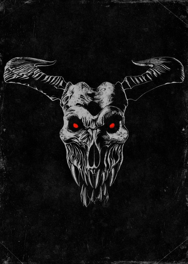 Icon of Sin - Artwork inspired by the alternate cover art proposed for the game Doom 2016. Available at https://displate.com/displate/188244 | Doom 4, Doom 2016, demon skull, baron of hell, demonic, id software, fps, first person shooter, oldschool, arena shooter, arcade shooter, skull shirt, Halloween, metal, heavy metal, gamer, gaming, video game, video games