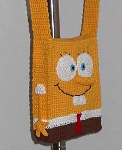 spongebob purse *Update* now with tut and corrections written in red - CROCHET