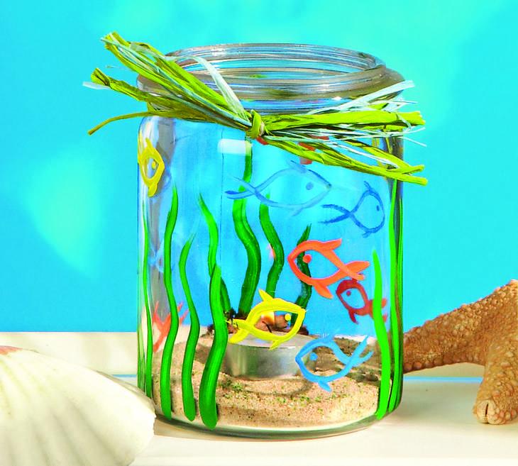 Морской бриз: подсвечник и рыбка-подвеска своими руками