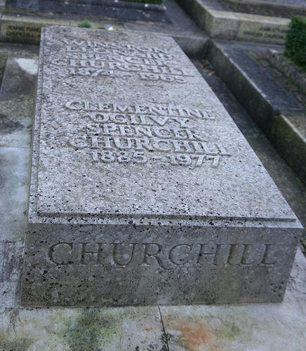 Grave Marker of Winston Churchill by Hillarie, via Flickr
