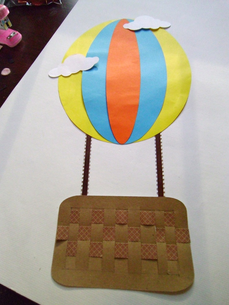 Hot air balloon craft kit for kids birthday party favor for Craft kits for preschoolers