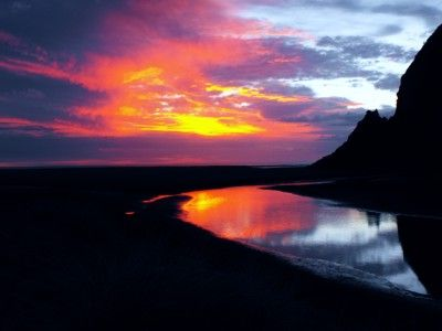 Sunset at Karekare, by Karim, is part of the September 2012 NZ Photo Contest
