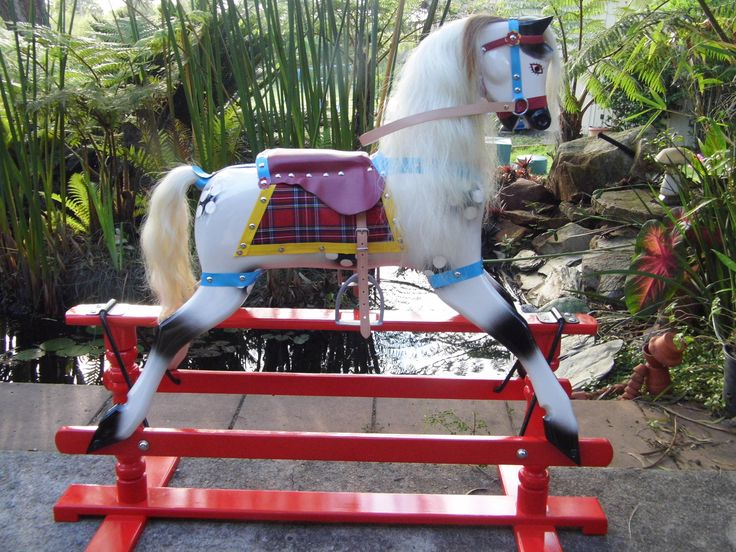 1956 Roebuck Rocking Horse restored by RoundYard Rocking Horses. This horse had no head when it was given to us to work on