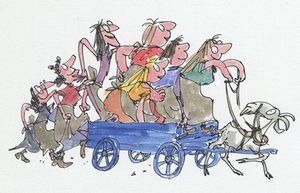 The Wild Washerwomen, written by John Yeoman, first published by Hamish Hamilton 1979 The washerwomen go out on the rampage.