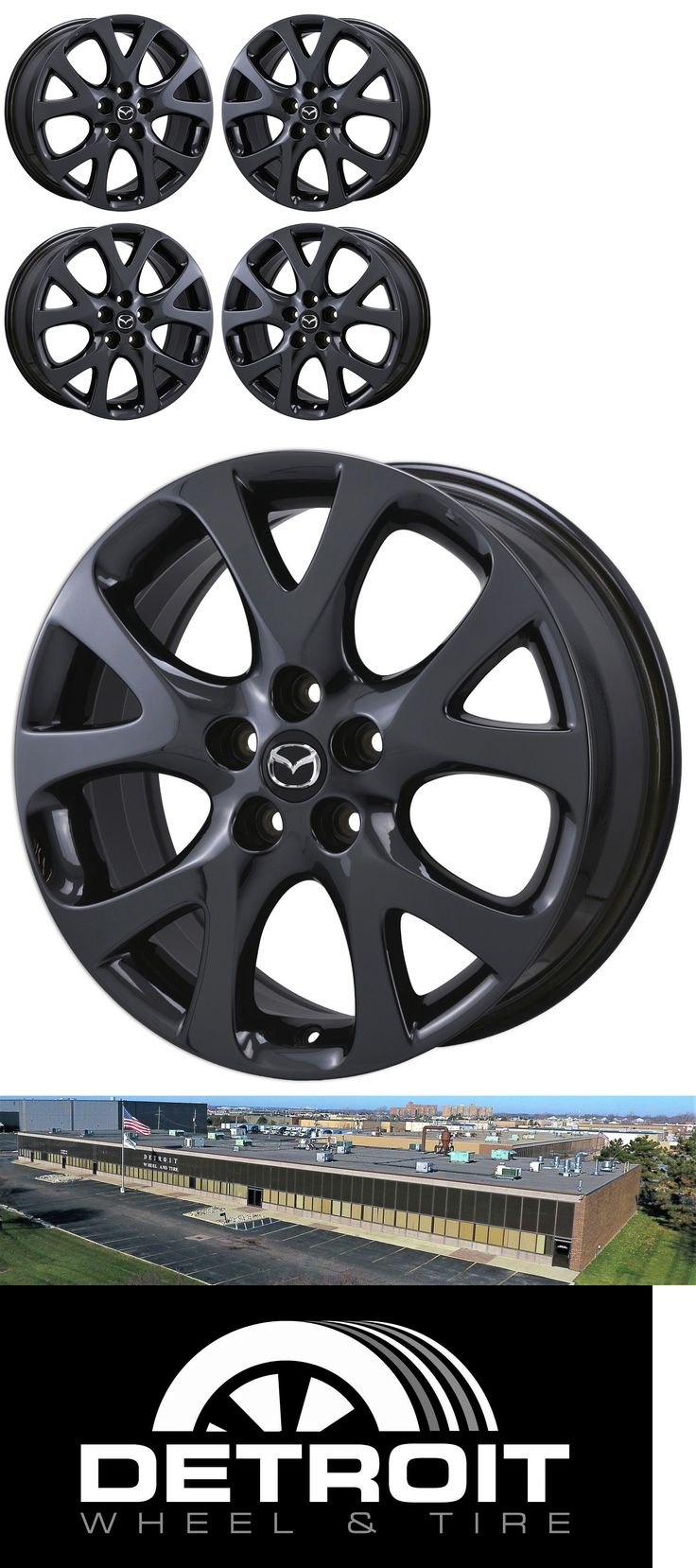 auto parts - general: 18 Mazda 6 Black Chrome Wheels Rims Factory Oem Set 4 64919 64943 -> BUY IT NOW ONLY: $945 on eBay!