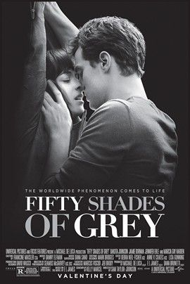 When Ana, an inexperienced college student, has to interview billionaire Christian Grey, a steamy and rather dark romance romance ensues. // Dakota Johnson and Jamie Dornan star // 25% freshness on Rotten Tomatoes // Rated R.