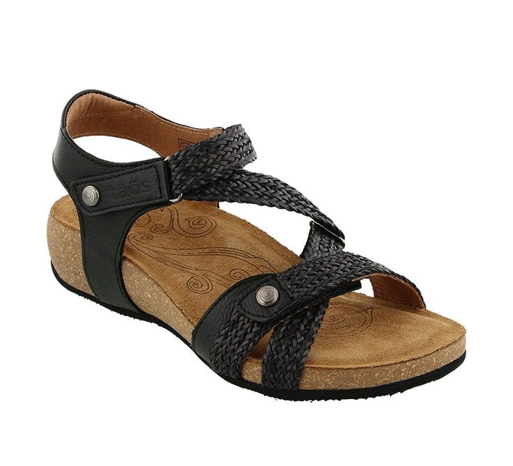 Taos Women's Trulie Wedge Sandal,Black,36 EU/5-5.5 ...