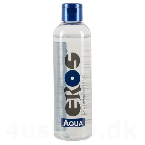Eros Aqua - 250 ml - Vandbaseret Glidecreme i den gode kendte Eros kvalitet. Stor praktisk flaske med glidecreme - vandbaseret glidecreme egnet til sex, sexlegetøj og meget andet sjov leg. #eros #glidecreme #lubricant #waterbased #vandbaseret #sexlegetøj