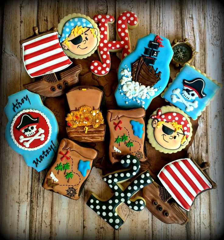 Pirate Themed Birthday Cookies | Cookie Connection