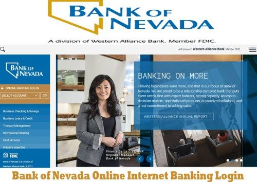 Bank of Nevada Online Internet Banking Login - Tecteem