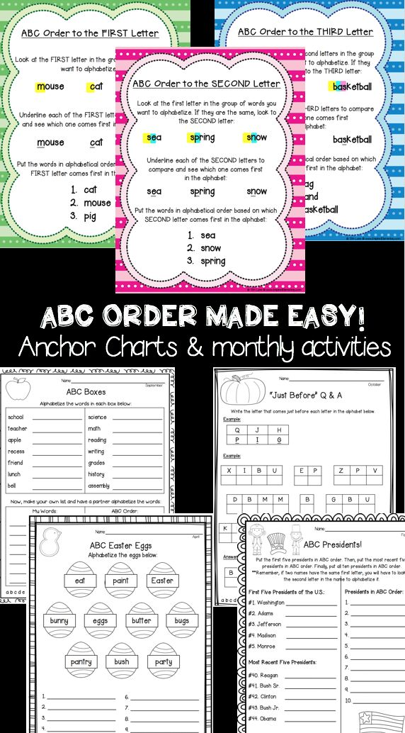 Teach ABC Order To The First Second And Third Letter With Ease