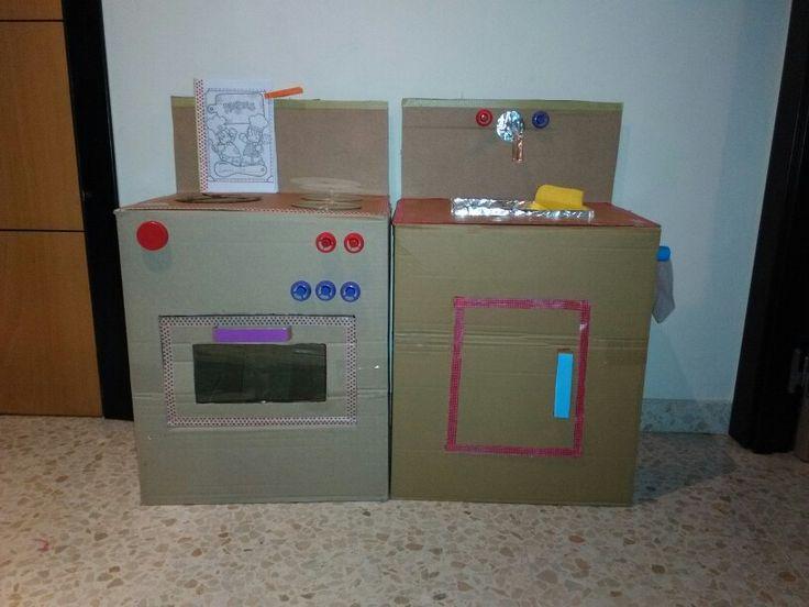 Cocinita de carton