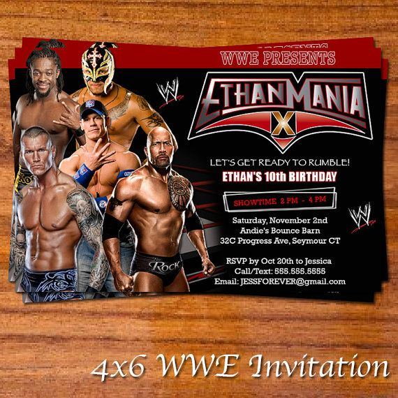17 best images about wwe bday party on pinterest | birthday party, Birthday invitations