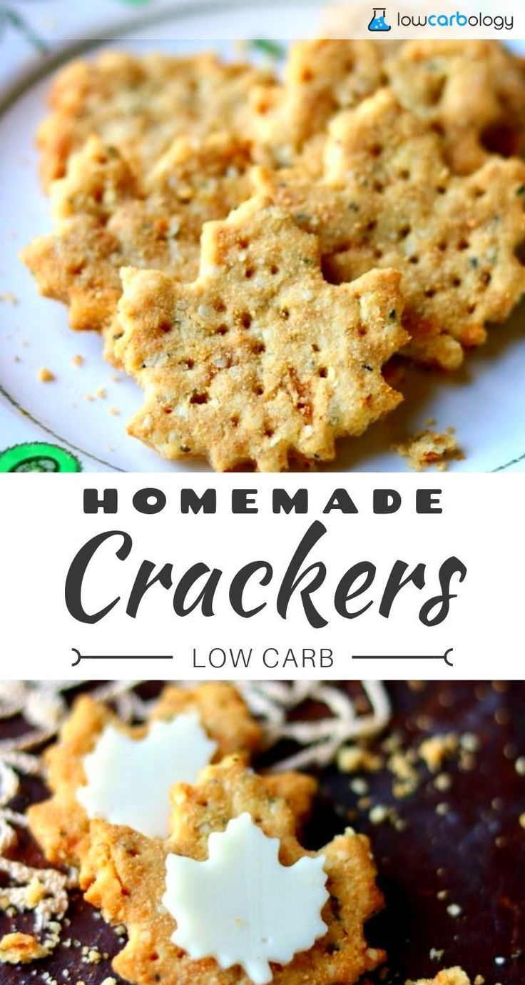 Homemade Low Carb Crackers Recipe Low Carb Crackers Food